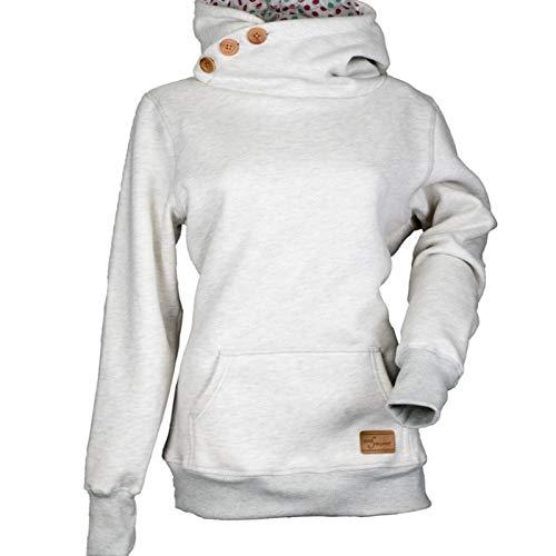 Otoño e Invierno, suéter con Capucha y Personalidad a la Moda para Mujer, Blusa Suelta Informal de Manga...