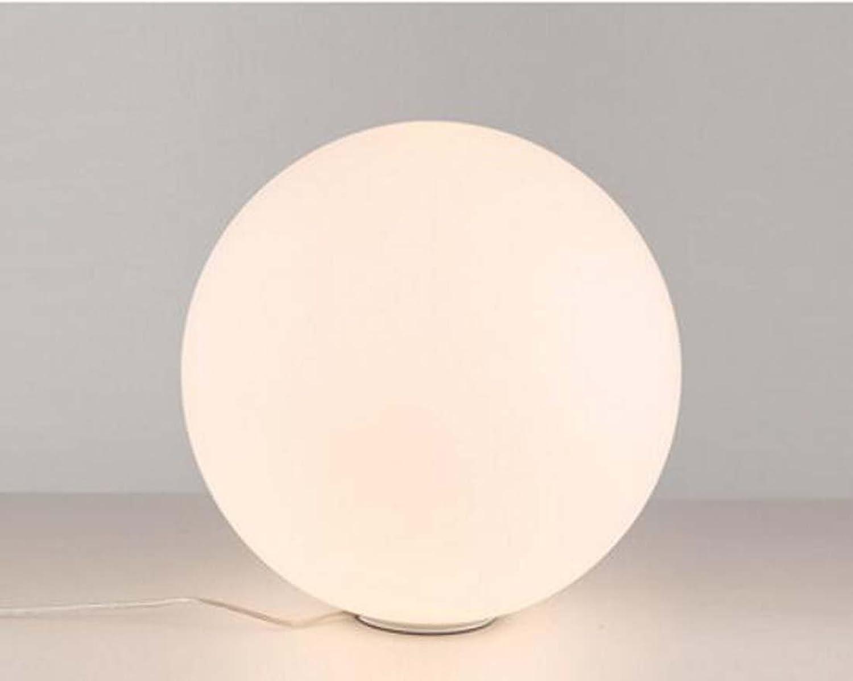 LED Schreibtischlampe, einfache Art und Weise Glastischlampe, Wohnzimmer Studie Nachttischlampe Kopf E27