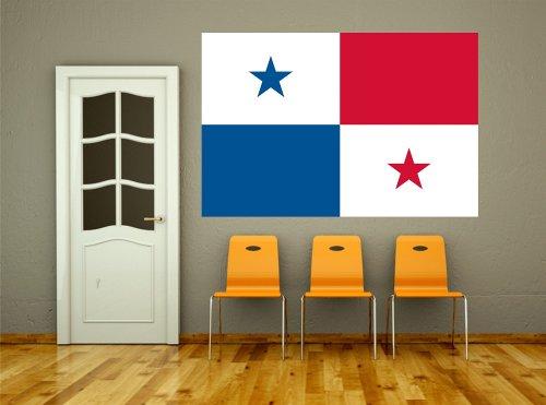 Kiwistar Wandtattoo Sticker Fahne Flagge Aufkleber Panama 120 x 80cm