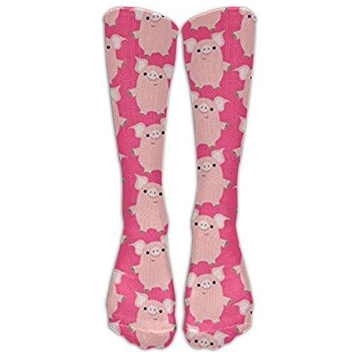 FuninDIY Socken für Damen und Herren, niedliche Cartoon-Schweinchen, für Reisen und Flug, für Laufen und Fitness