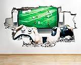 RoomLarge Q631 - Adesivo da parete 3D per Xbox Spiel Hobby e camera da letto, in vinile