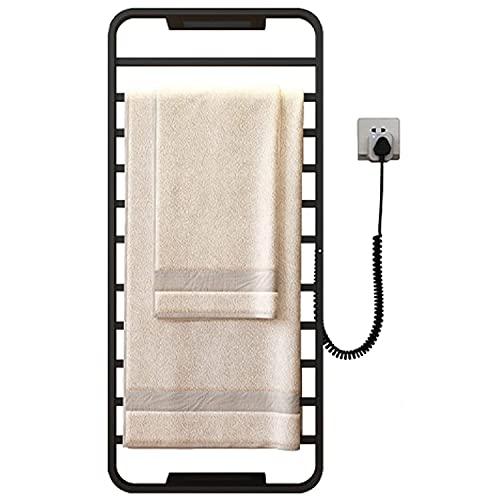 LJHSS Toalla Calentador eléctrico, toallero Recto radiador toallero Calentador de Toallas radiador de calefacción, Bajo Consumo, para Baño (Color : Black)