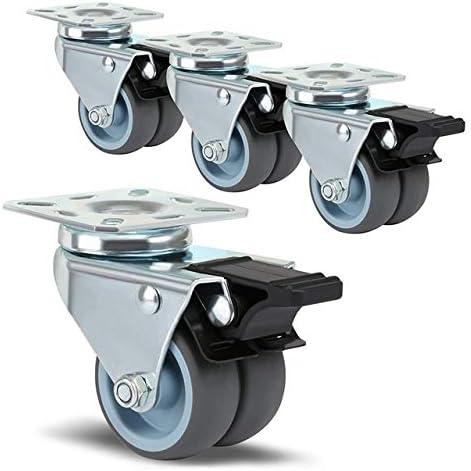 Casters Roulettes pivotantes robustes Noires spécial 4 x OFFicial store offre Ranking integrated 1st place