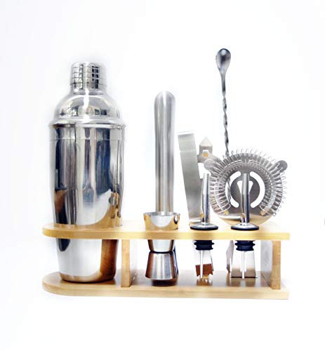 Cocktail-Shaker-Set, 10-teilig, Barkeeper-Set (750 ml)