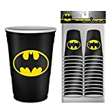 Batman DC Comics Logo 2oz Disposable Plastic Mini Cups   20 Pack