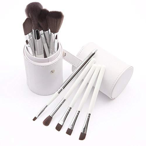12 outils multifonctionnels de maquillage de maquillage de fard à paupières de brosse de fond de teint multifonctionnel blush, blanc