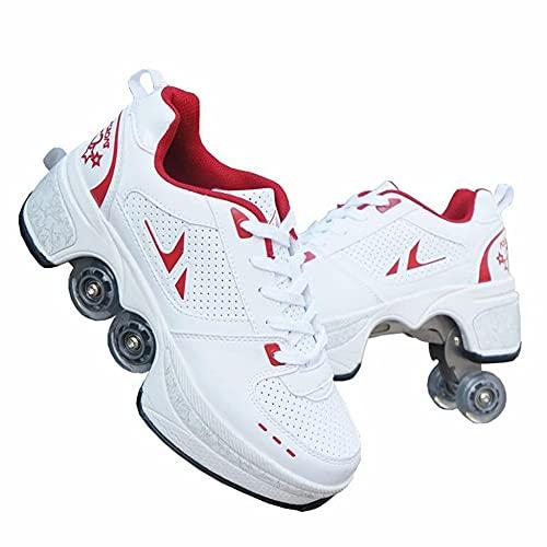 Patines de deformación, Zapatos de patinaje retráctiles Zapatos para caminar automáticos, Zapatillas de salto para recreación infantil unisex Parkour / 39