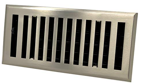 Madelyn Carter Modern Chic Brushed Nickel Vent Covers (Steel) 4' x 10' (5.5' x 11.5' Face)