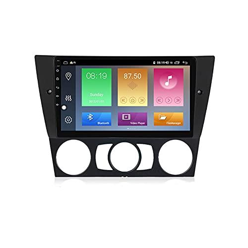 ADMLZQQ Android Doble DIN Radio De Coche Navegacion GPS para BMW E90 E91 E92 E93 Coche Reproductor MP5 Radio FM Enlace Espejo Control del Volante con Cámara Trasera,M500 4+64g