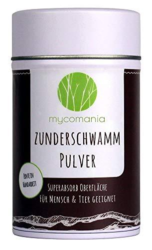 Mycomania Zunderschwamm Pulver 30g | inkl. Reinheitszertifikat