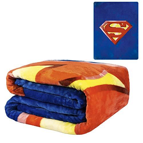 JPI Flannel Fleece Plush Blanket - Superman Shield...
