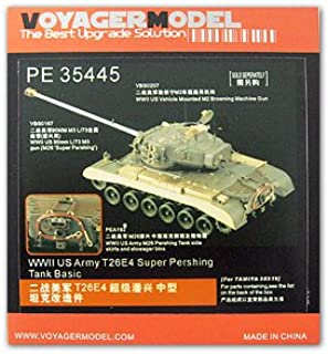 Voyager Model KNL Hobby Photo-Etched Sheets Parts The Best Upgrade Solution PE35445 T26E4 Super Pershing Heavy Tank Upgrade Metal Etching Pieces (T Agency)