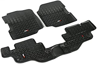 Rugged Ridge All-Terrain 12987.09 Black Front and Rear Floor Liner Kit For Select Jeep CJ7, Scrambler and Wrangler Models