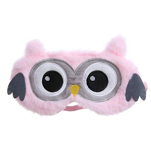 Masque de Sommeil - Mignon 3D moelleux masque pour les yeux des animaux pour dormir dormir respirant bande dessinée masque de sommeil bande dessinée enfants adultes