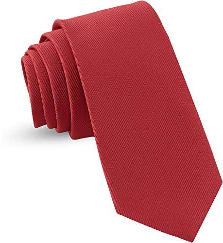 Handmade Necktie Skinny Woven Slim Mens Tie: Thin Burgundy Red Ties For Men, Stylish Neckties For...