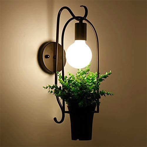 Wandlamp LED - ijzer antieke verlichting tuin bloempotten metaal plantenbak industriële wandlamp keuken woonkamer bar hotel winkel moderne wandlamp