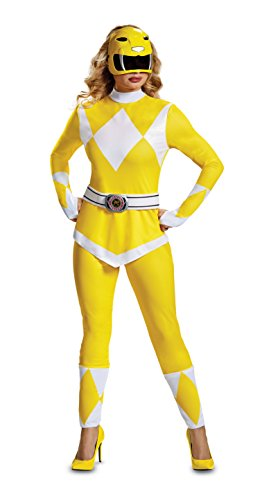 Geel Power Ranger kostuum voor vrouw- Power Rangers Mighty Morphin