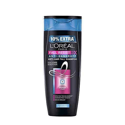 L'Oreal Paris Fall Resist 3X Anti-dandruff Shampoo, 175ml (With 10% Extra)