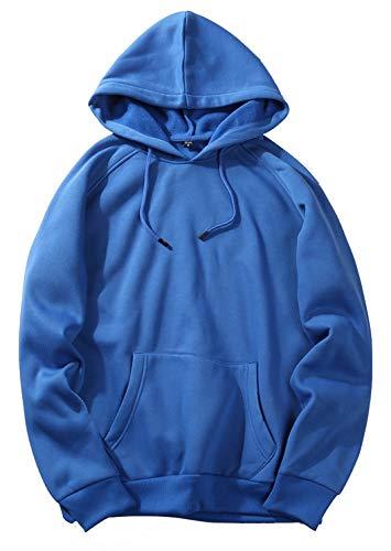 PIZOFF Unisex Kapuzenpullover Hoodie Sweatshirt Mit Kapuze Kapuzenpulli Kapuzensweatshirt AM027-blue-M