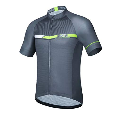 ROTTO Cycling Jersey Men Bike Shirts Short Sleeve Simple Line Series