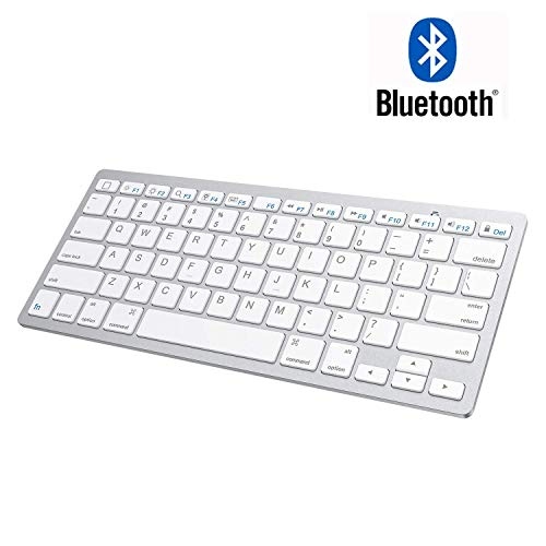 Bluetooth Keyboard for ipad Bluetooth Keyboard Compatible with iPad Air 10.5, iPad Mini 5/4, iPad 10.2-inch/ 9.7-inch, iPad Pro 11/12.9, Other Bluetooth Enabled Devices (Silver)