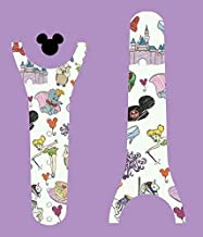 Vinyl Skin Decal Wrap Sticker Cover for the MagicBand 2 Magic Band Character Doodle Sketch Collage