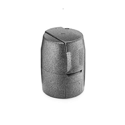 thermohauser EPP-Thermobox Bierfass schwarz, 4-teilig, Isolierverpackung für 5 L Bierfass
