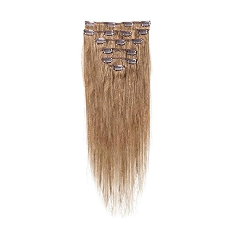 ある雑草買い手ヘアエクステンション,SODIAL(R) 女性の人間の髪 クリップインヘアエクステンション 7件 70g 18インチ ブラウン