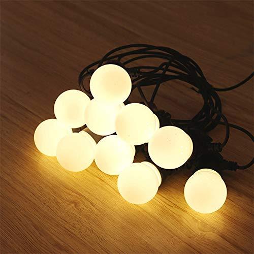 oob Outdoor Globe String Festoon Lights Mains Powered G50 Bulbs 15M,Warm White for Garden Patio,A