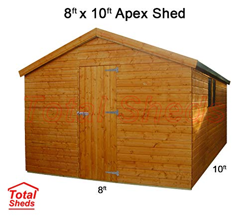 Total Sheds 10ft (3.0m) x 8ft (2.4m) Shed Apex Shed Garden Shed Timber Shed