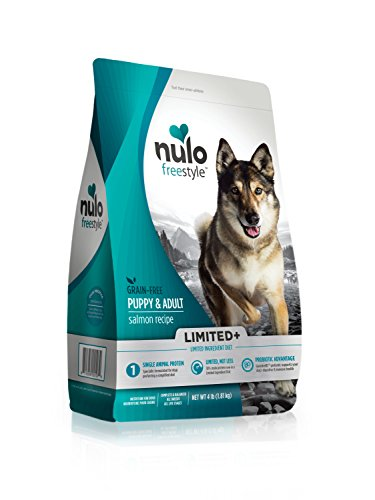 Nulo Puppy & Adult Freestyle Limited Plus Grain Free Dry Dog Food: All Natural Limited Ingredient Diet for Digestive & Immune Health - Allergy Sensitive Non GMO (Salmon Recipe - 4 lb Bag) (51LS04)