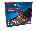 Noris 606108004 606108004-Deluxe Reisespiel Backgammon, Spieleklassiker -