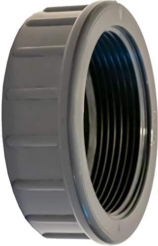Pangaea Tech PVC Gewindekappe IG 2 Zoll- Winterstopfen für Pool Einlaufdüse - 2
