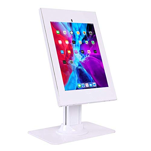 Allcam IPA2602DE Anti-theft Tablet Countertop Kiosk Stand w/Free-standing Weighted Base in White, compatible with 10.2' 10.5' iPad/iPad Air/iPad Pro