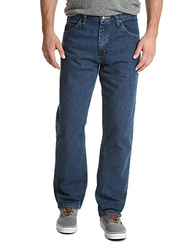 Wrangler Authentics Men's Classic 5-Pocket Relaxed Fit Cotton Jean, Dark Stonewash, 40W x 29L