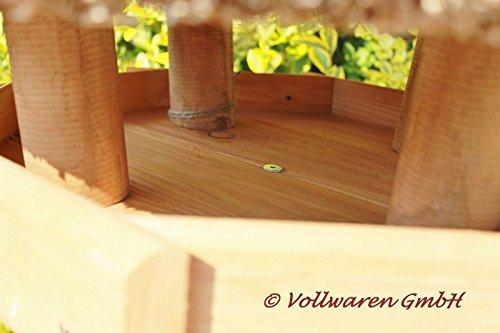 REETDACH VOGELVILLA STETIN (klein) Kiefer Vogelhaus Futterhaus OHNE Ständer 65x57x57 - 4