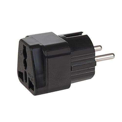 Maclean MCE155 Universal Reise Adapter Stecker GB/UK (Buchse) auf EU Schuko (Stecker)