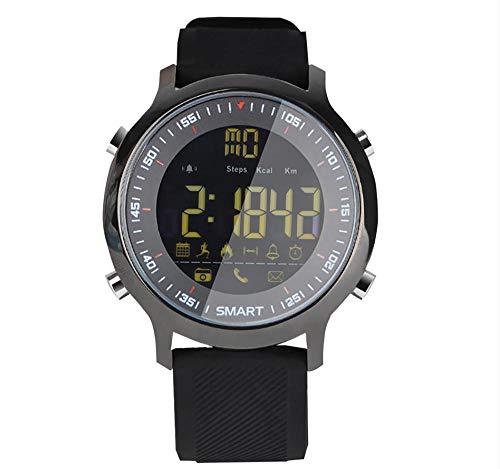 MZ Reloj Inteligente EX18, Brazalete Deportivo con Bluetooth, Brazalete con Control Remoto para cámara, rastreador de Actividad Impermeable para Hombres y Mujeres, Correa reemplazable