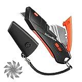 ValueMax Cúter de Seguridad Cutter de Gatillo 14 Hojas...