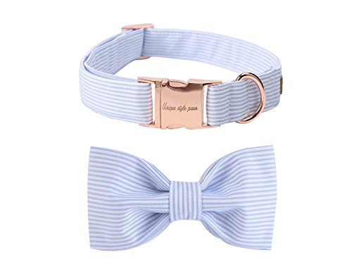 Unique style paws Pet Soft &Comfy Bowtie Dog Collar and Cat Collar Pet Gift for Dogs and Cats 6 Size and 7 Patterns