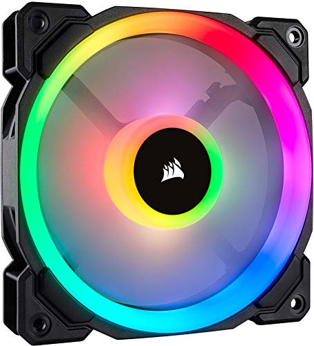 Corsair LL120 RGB Ventola da 120 mm, Dual Light Loop RGB LED PWM, Nero , Confezione Singola