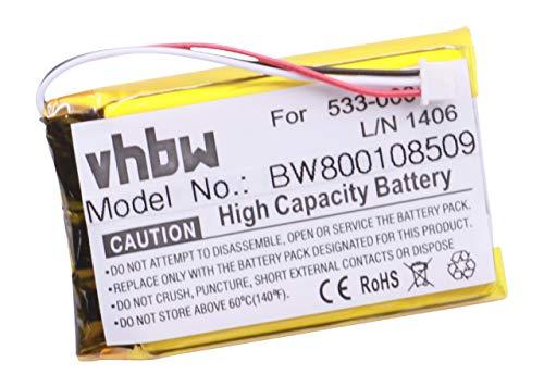 vhbw Batterie Li-Polymer 1100mAh (3.7V) pour Clavier d'ordinateur Logitech K830 Remplace: 533-000112, L/N 1406.