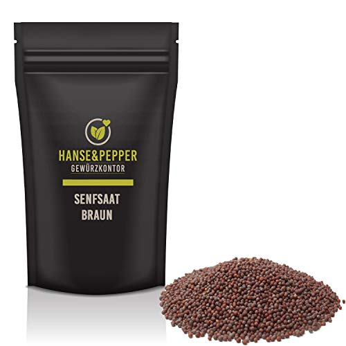 1kg Senfsaat braun ganz Senf körner Kräutergewürz Premium Qualität - Spicy Pro Serie
