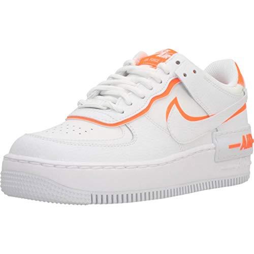 Nike Damen Af1 Shadow Wanderschuh, White/Summit White-Total Orange, 39 EU