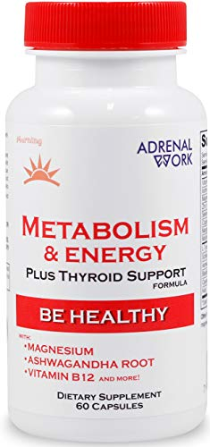 AdrenalWork | Premium Metabolism Booster for Weight Loss | Energy Booster + Reduce Belly Fat + Stress Relief | Advanced Wellness Formula: Vitamin B, Magnesium, Iodine, Zinc Plus | for Men and Women