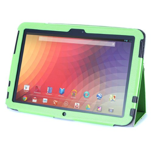 Acase Premium PU Leather Case with Multi-View Stand for 10-Inch Google Nexus, Green (ACS-1005PUGN-GN10-AS)