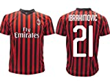 Ibrahimovic Mailand Offizielles Trikot 2019 2020 AC Erwachsene Kinder Zlatan Ibra Home 21, Rossonera, 4 Years