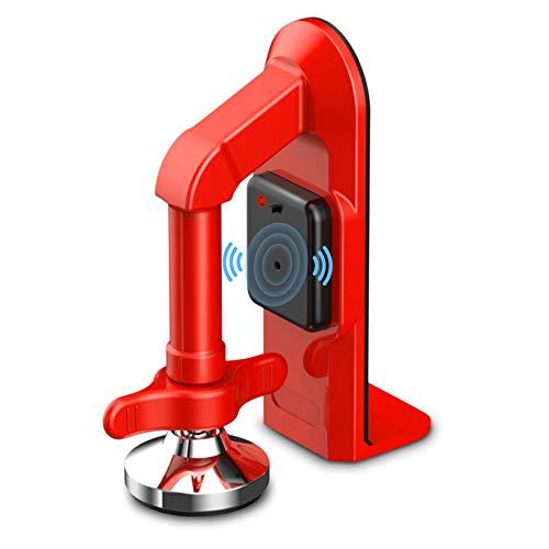 Portable Door Lock Brace-Anti-Collision Door Blocker Gate Stopper Siren Home Door Jammer Security,Apartment Security Stopper Burglar Devices and Personal Protection Night Door Locks Guard (Red)