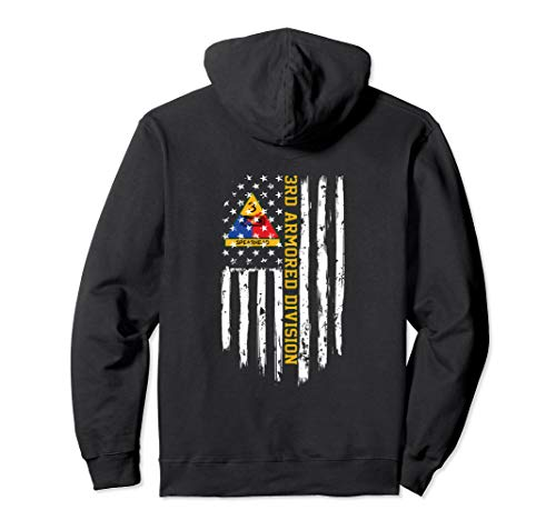 3rd Armored Division American Flag Pullover Hoodie