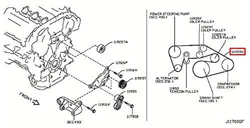 Infiniti 11720-EY00B, Serpentine Belt